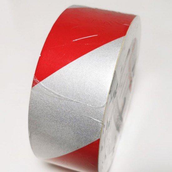 Rdeče bel odsevni trak 50mm (Odsevni - svetleči trakovi)