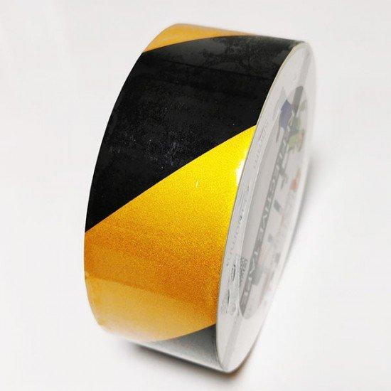 Rumeno črn odsevni trak 50mm (Odsevni - svetleči trakovi)