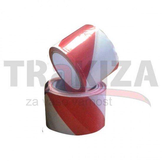 Opozorilni nelepljivi trakovi 70mm x 200m rdeče-beli (Opozorilni nelepljivi trakovi)