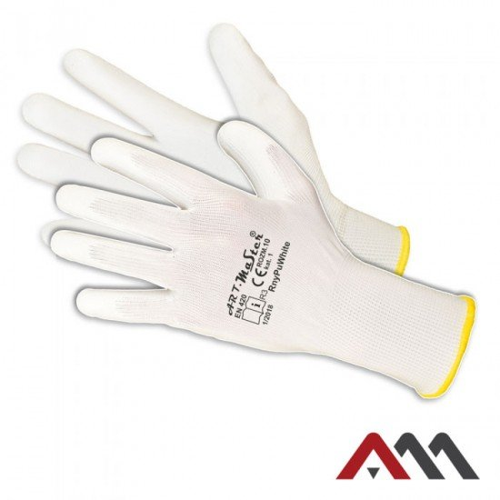 Zaščitne PU rokavice RNYPU- W (Rokavice prevlečene poliuretan)