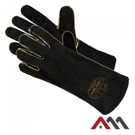Varilske rokavice REFLEX - črne (Varilske rokavice)